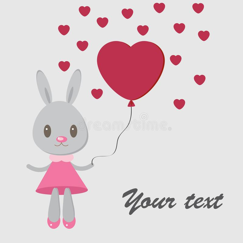 Bunny with heart1 stock image