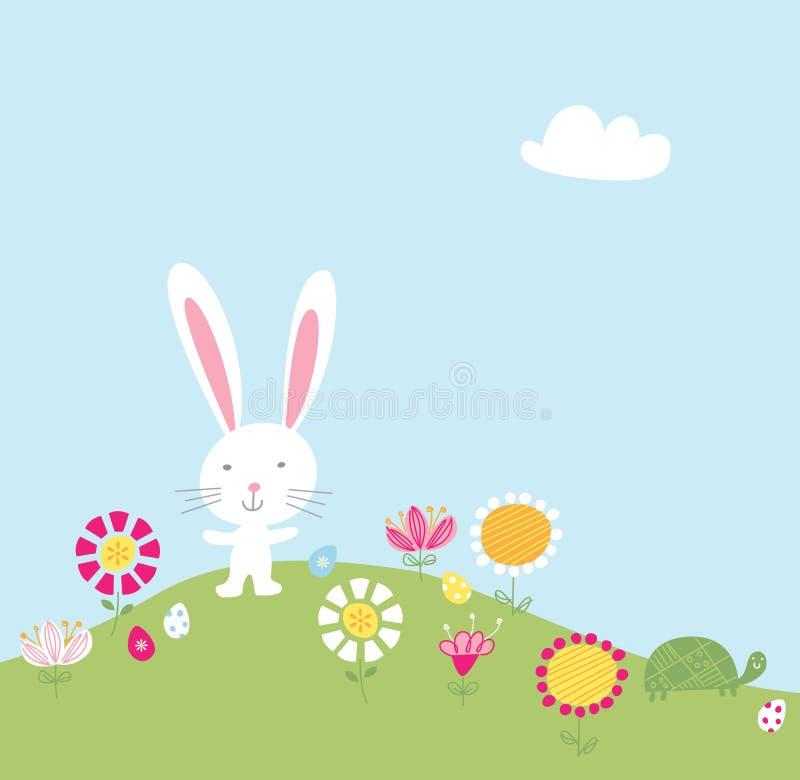 Download Bunny Hill Illustration stock illustration. Image of easter - 24922697