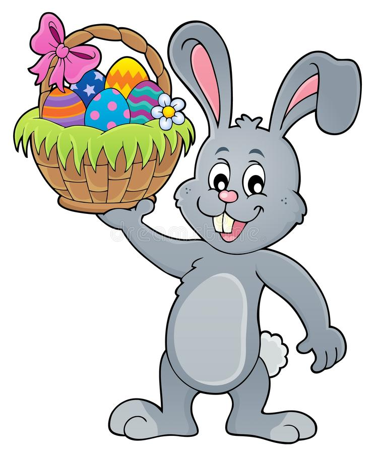 Free Bunny Holding Easter Basket Topic 1 Stock Photography - 108221442