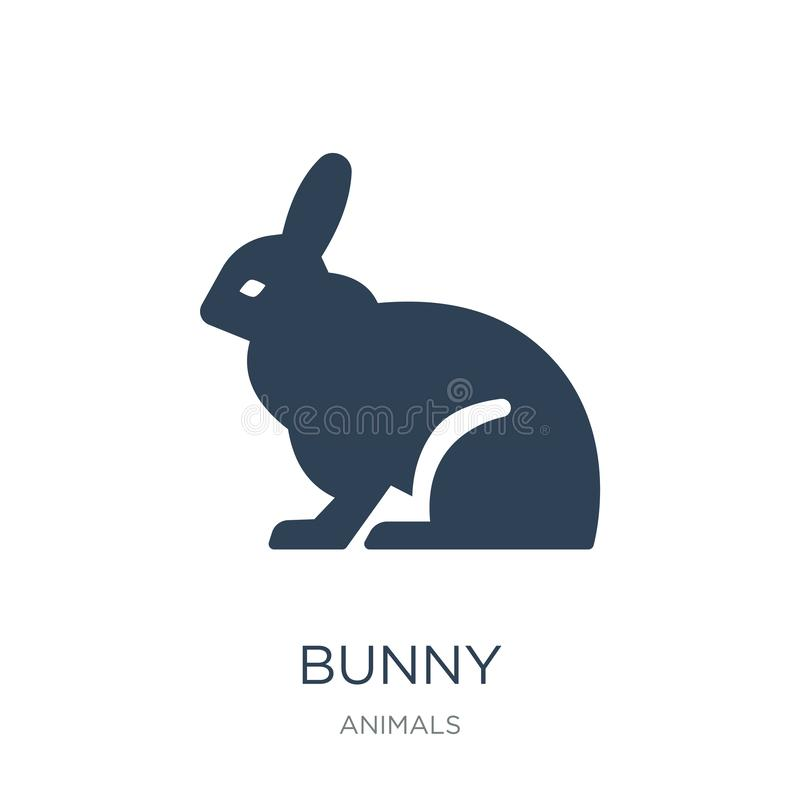 Bunny icon in trendy design style. bunny icon isolated on white background. bunny vector icon simple and modern flat symbol for. Web site, mobile, logo, app, UI stock illustration