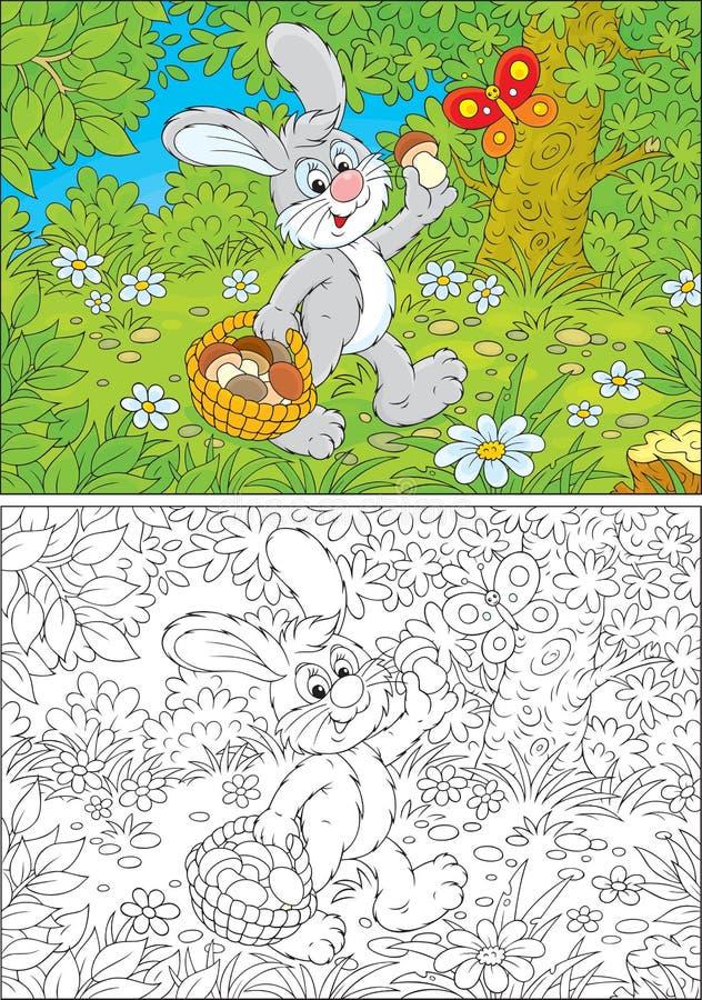 Bunny Mushroomer Royalty Free Stock Photography