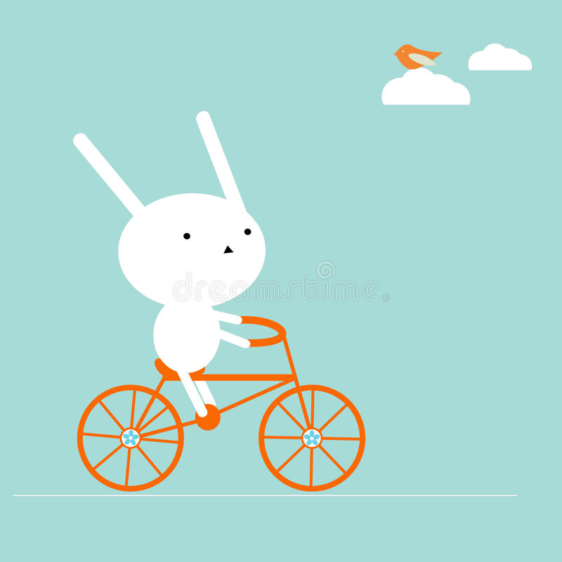 Free Bunny On A Bike Royalty Free Stock Image - 10823566