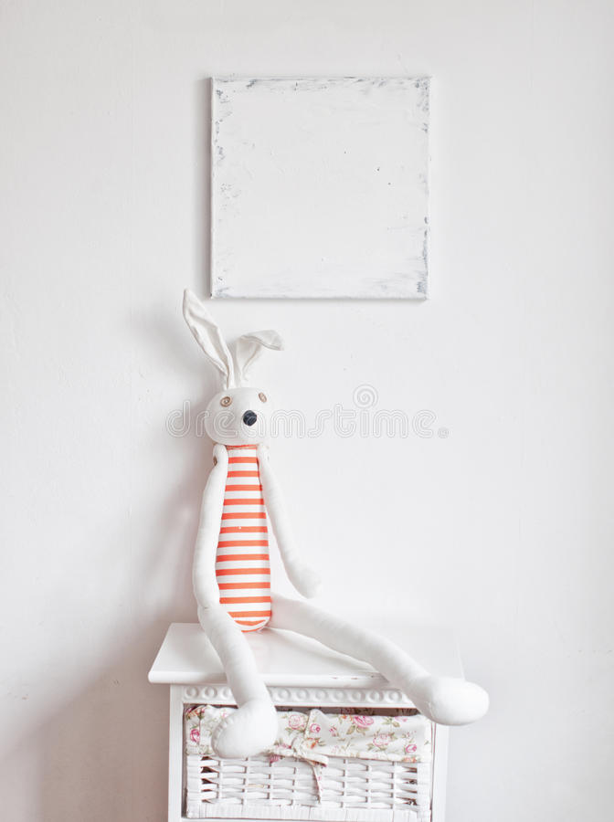Free Bunny On The Bedside Table Royalty Free Stock Photos - 53309228