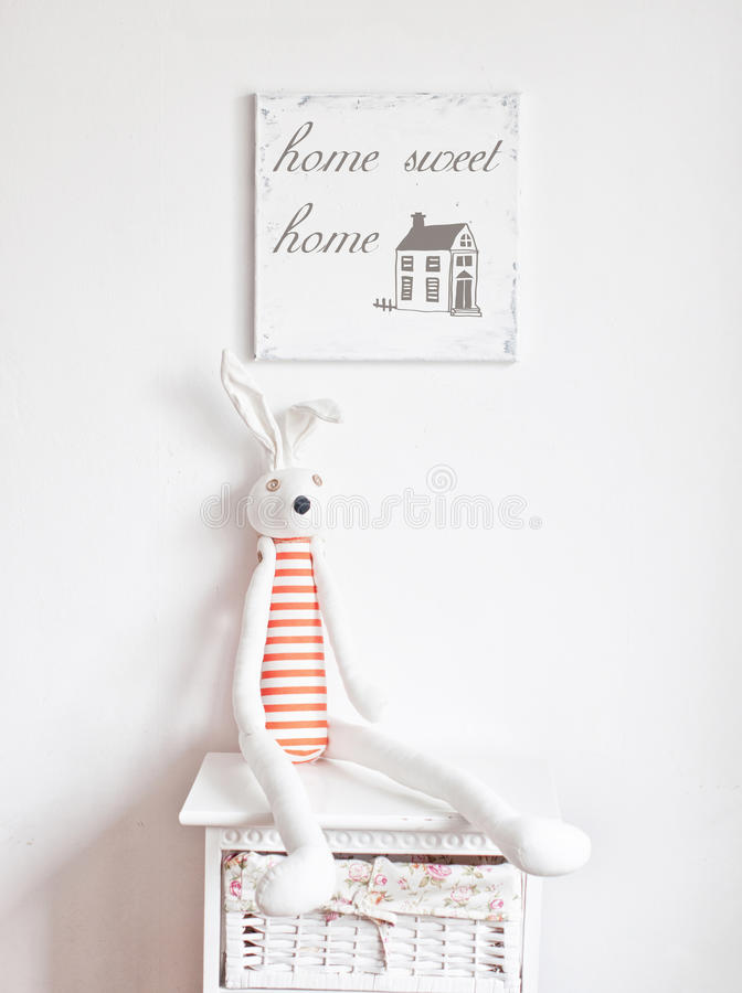 Free Bunny On The Bedside Table Stock Images - 53309474