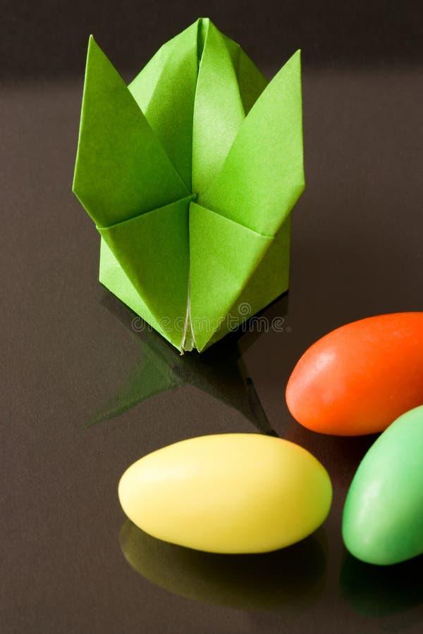 bunny origami Πάσχας στοκ φωτογραφίες