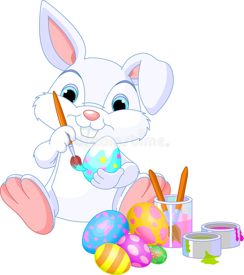 Download Bunny Painting Easter Egg stock vector. Image of paint - 23490771