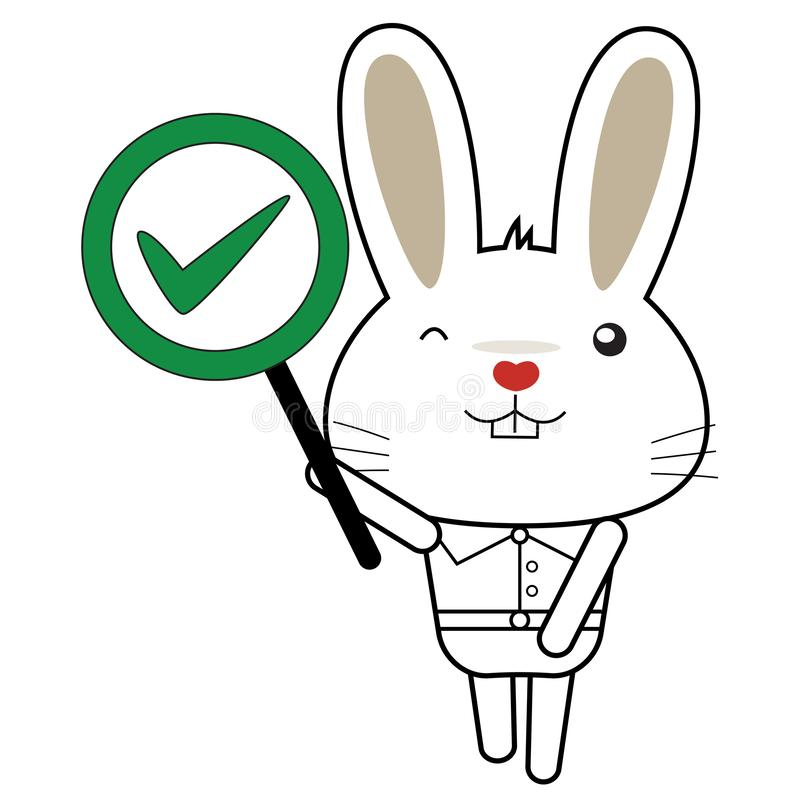 Bunny and rabbit character royalty free stock images