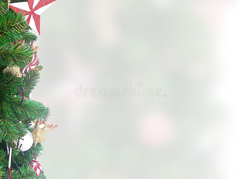 Bunny and rabbit characterChristmas gift and tree on a white. stock images