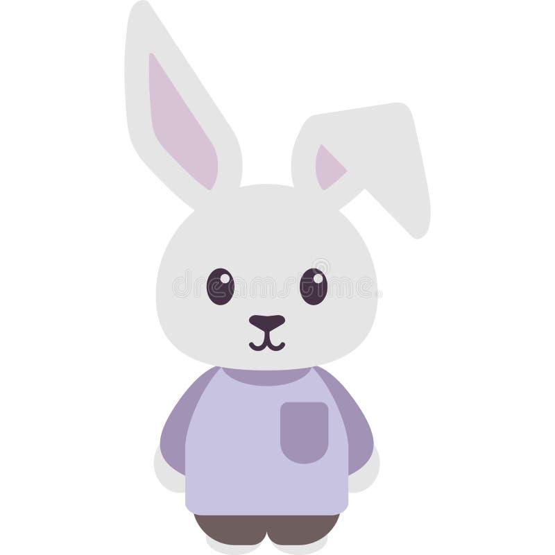 Bunny Rabbit Dressed Vector Illustration ilustración del vector
