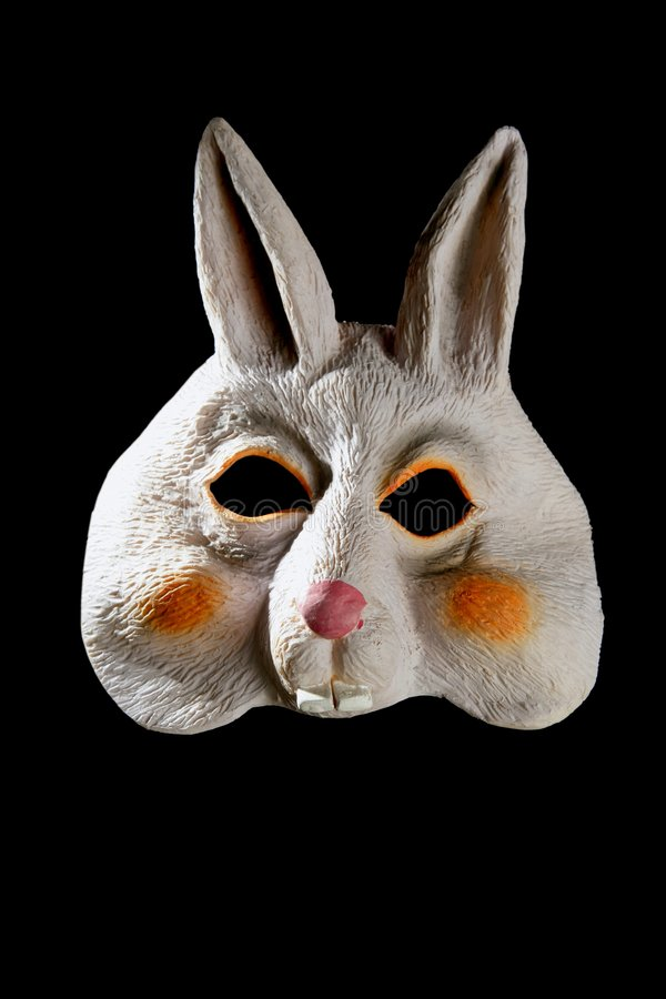 Bunny rabbit funny mask royalty free stock photography
