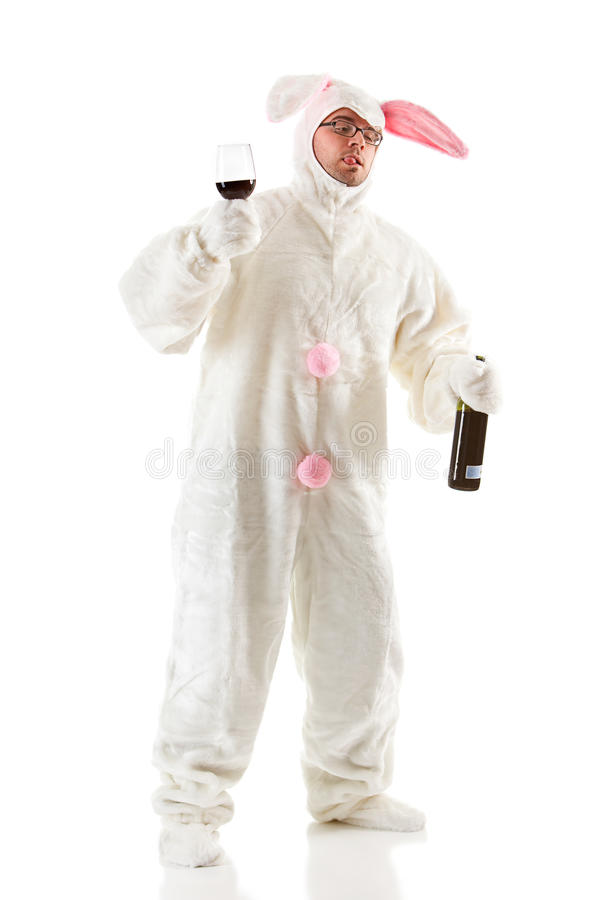 Free Bunny: Rabbit Has Too Much To Drink Stock Image - 45392711