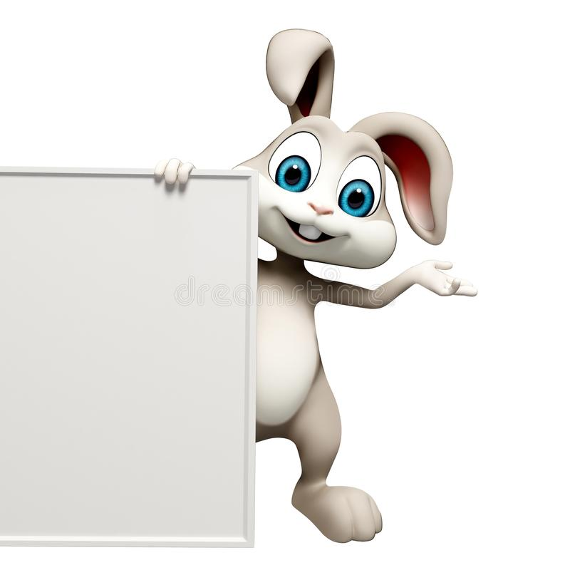 Bunny with sign. Easter smart bunny with sign royalty free illustration