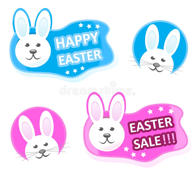 Bunny stickers stock photography