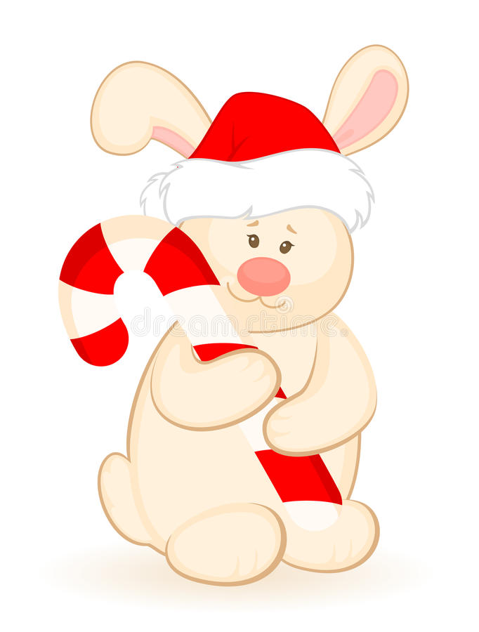 Download Bunny In The Suit Of Santa Claus Stock Vector - Image: 16937223