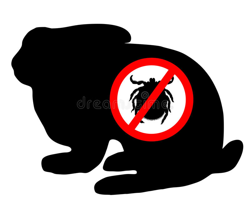 Download Bunny tick prohibited stock vector. Illustration of illustration - 20102210