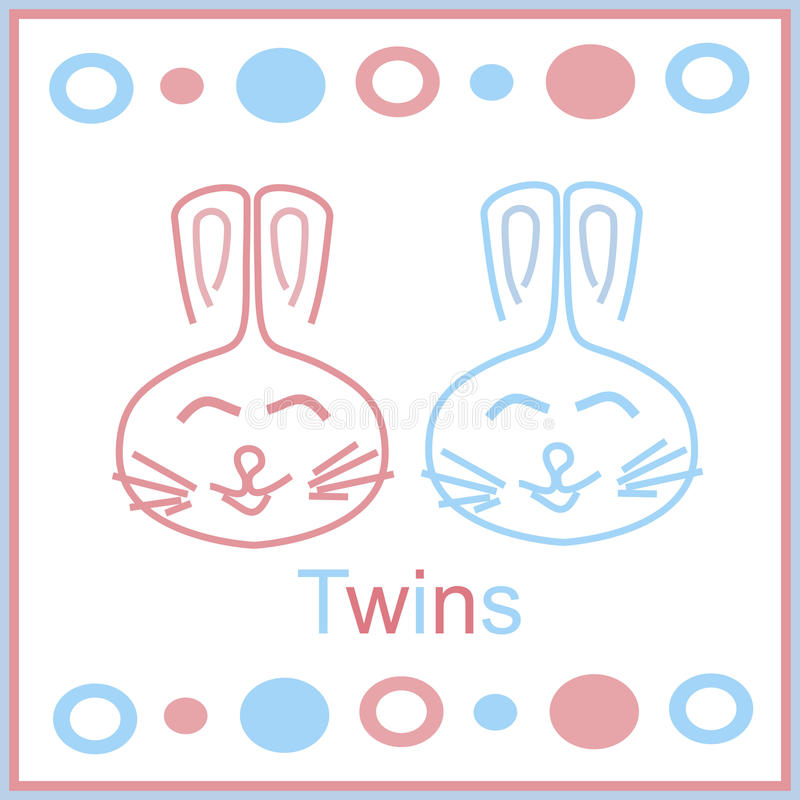 Download Bunny twins stock illustration. Illustration of icon - 22699962