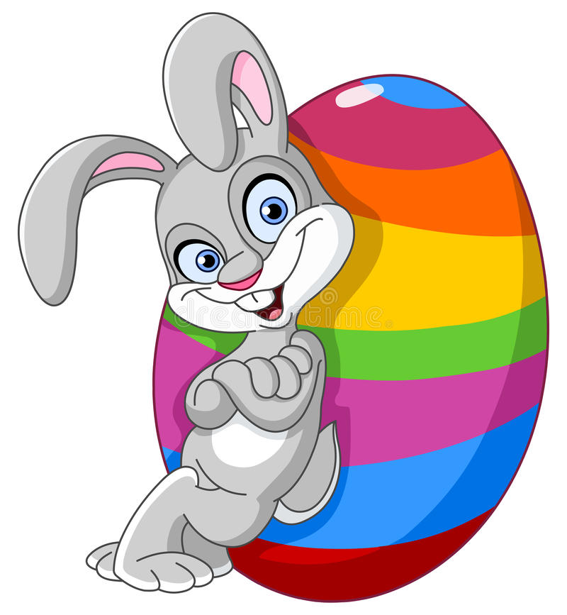Free Bunny With Easter Egg Stock Image - 23739791