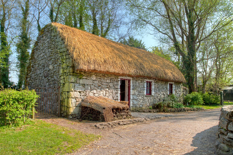 bunratty chałupy domu irlandczyk tradycyjny zdjęcia royalty free
