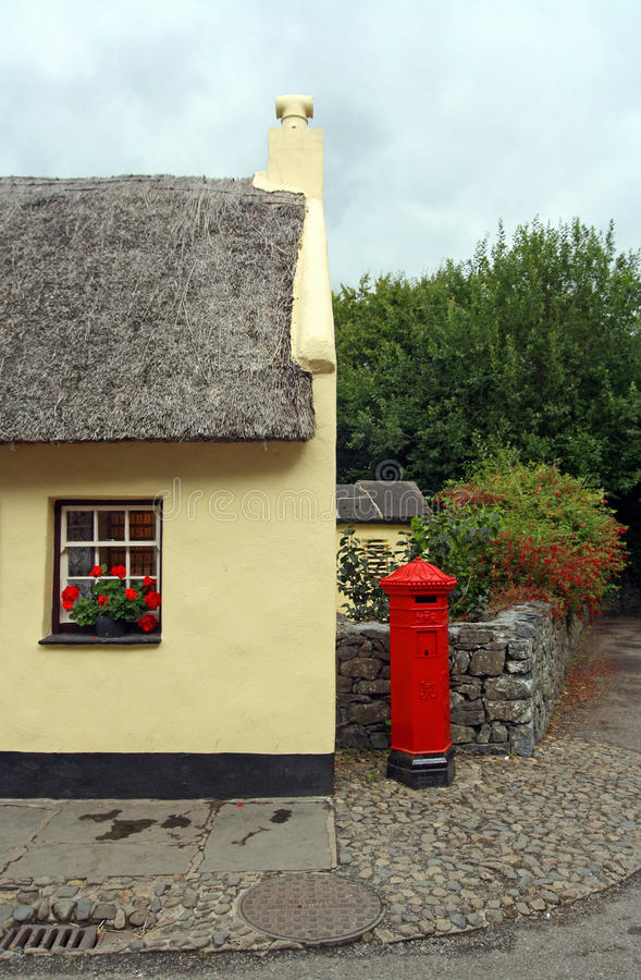 Download Bunratty Postbox stock photo. Image of corner, trees - 15594098