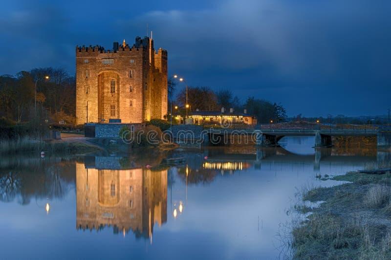 Bunratty slott Irland fotografering för bildbyråer