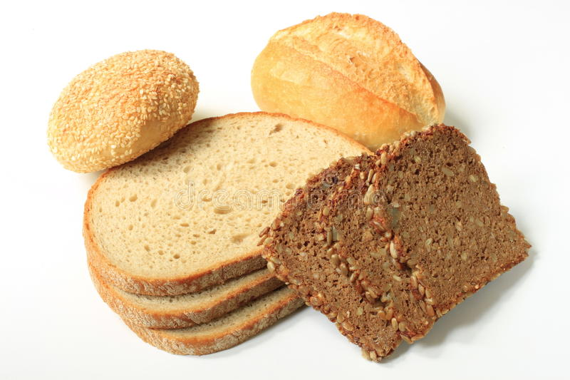 Buns and bread royalty free stock photos