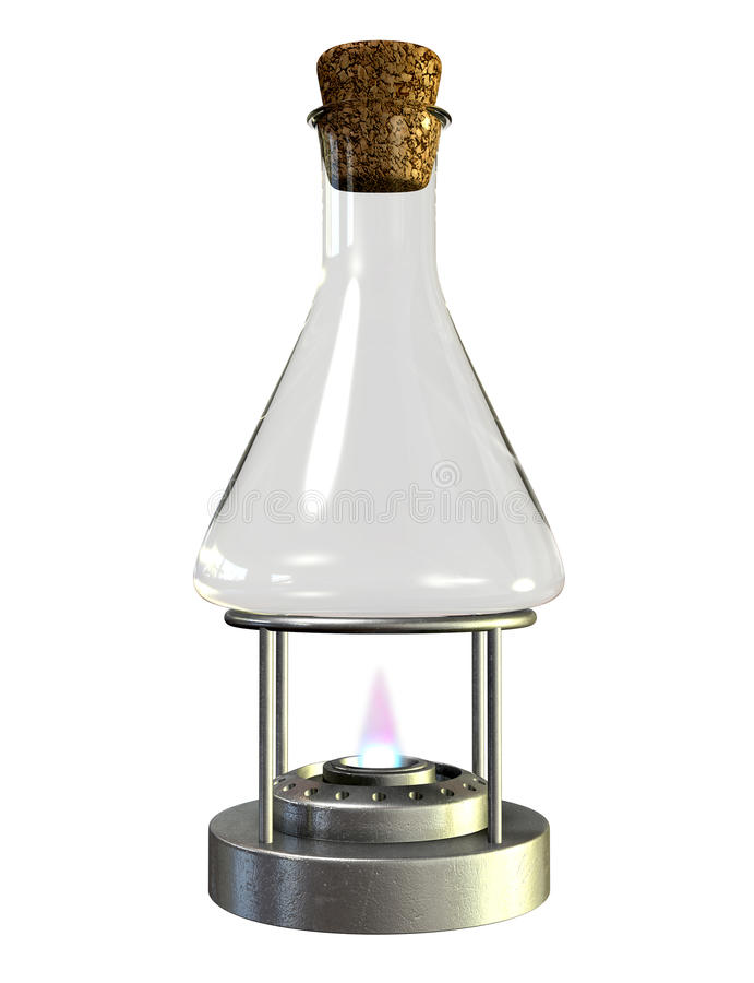 Bunsen Burner And Glass Jar royalty free stock images