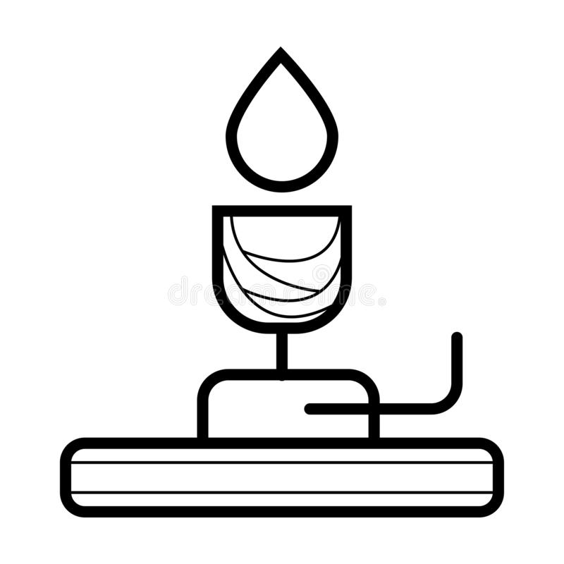 Bunsen palnika ikona ilustracji
