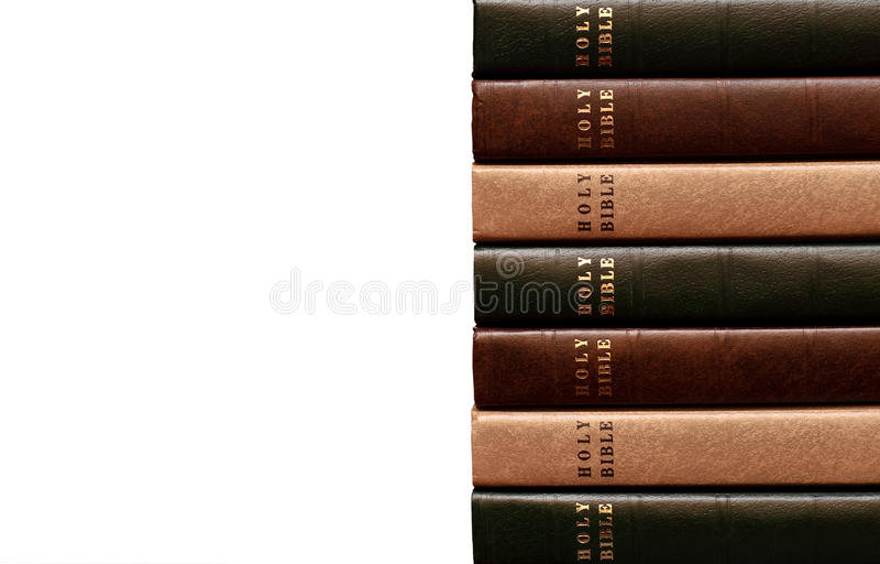 Bunt av biblar 2 royaltyfria foton