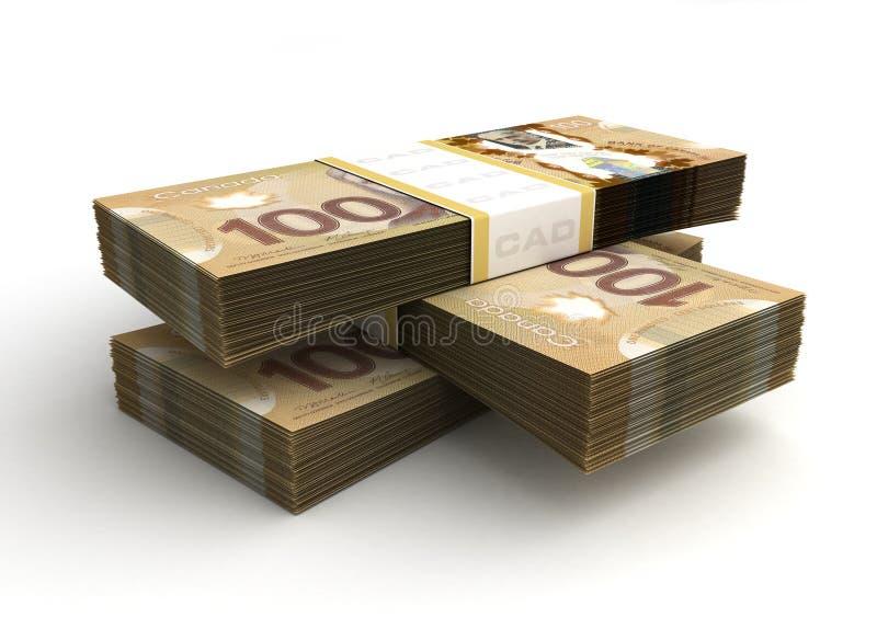 Bunt av den kanadensiska dollaren vektor illustrationer