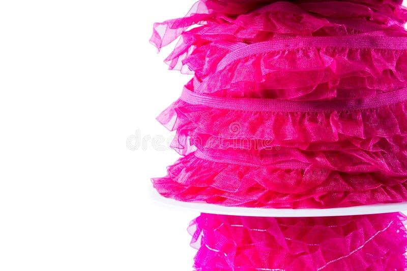 Bunt av det rosa och röda bandet royaltyfria foton