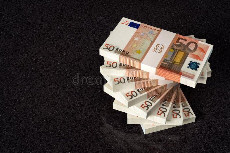 Bunt av 50 eurosedlar royaltyfri bild