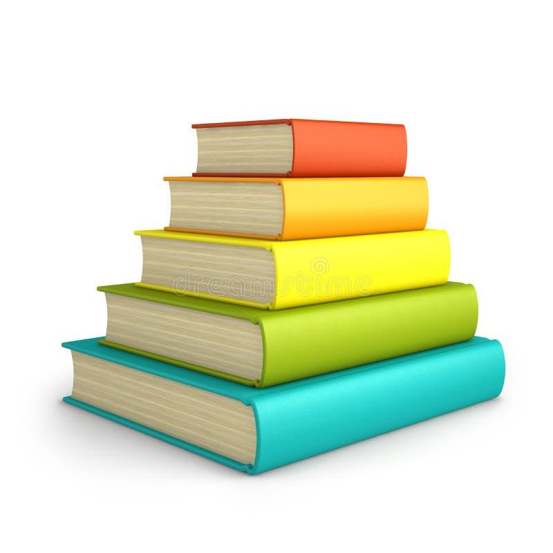 Bunt av färgrika böcker som isoleras på vit bakgrund royaltyfri foto