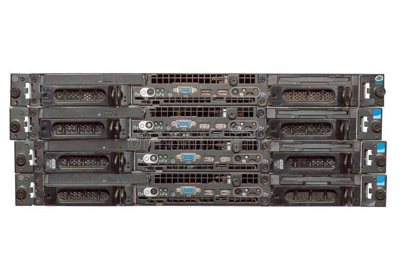 Bunt av fyra gamla Dusty Servers arkivfoto