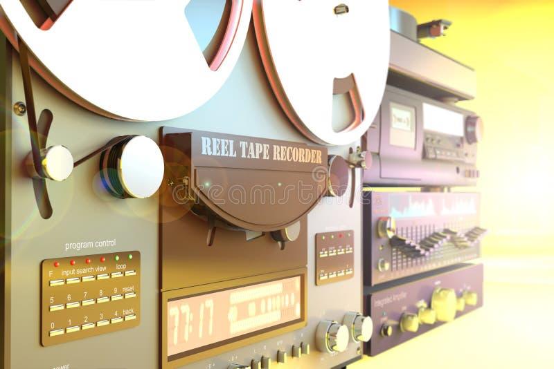 Bunt av illustrationen för apparater 3d för solid radio stock illustrationer