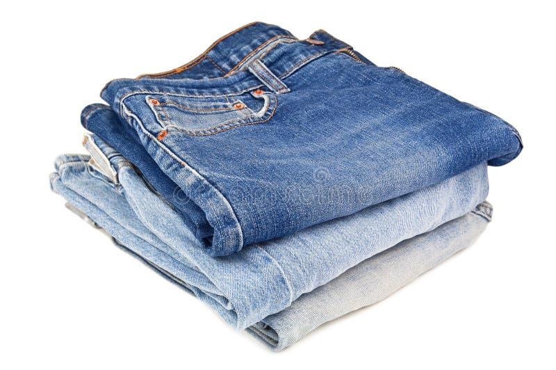 Bunt av jeans royaltyfri bild