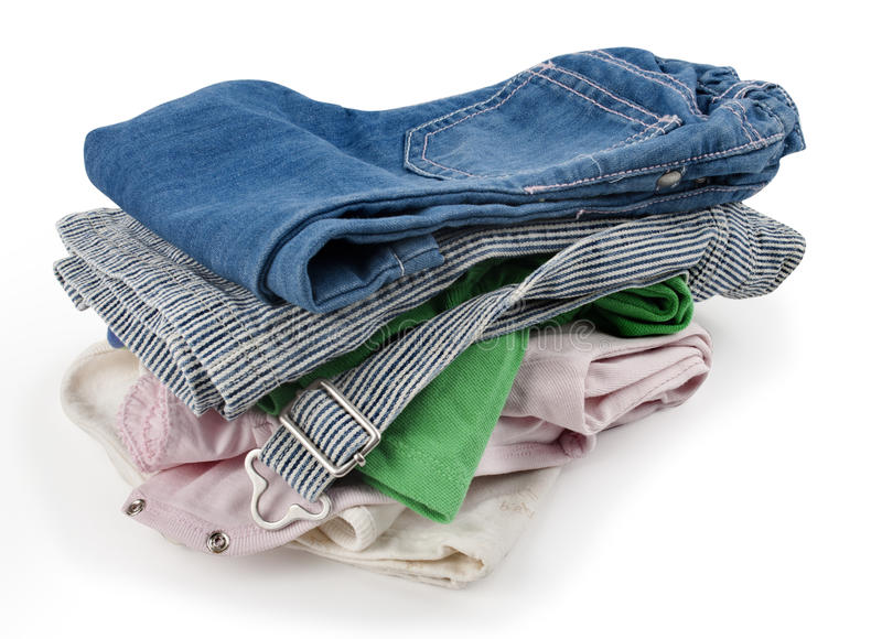 Bunt av kläder arkivfoto