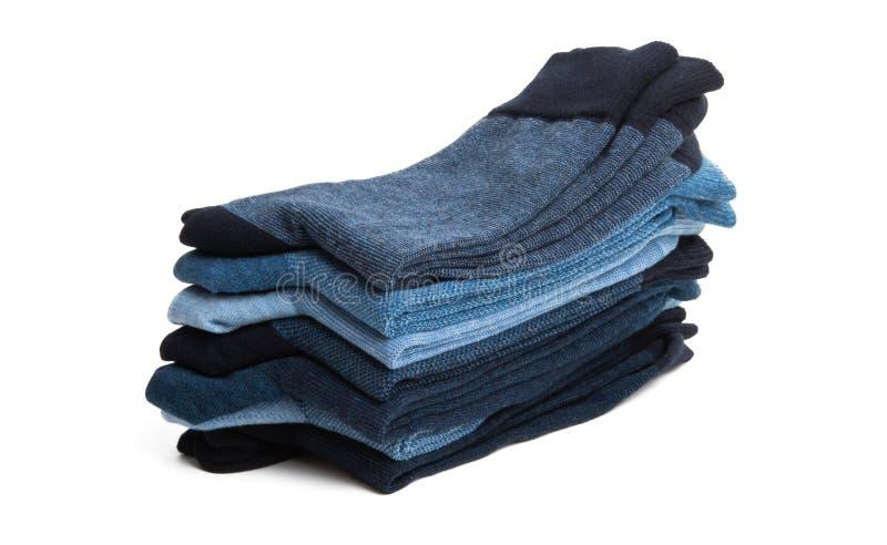 Bunt av mäns sockor royaltyfria bilder
