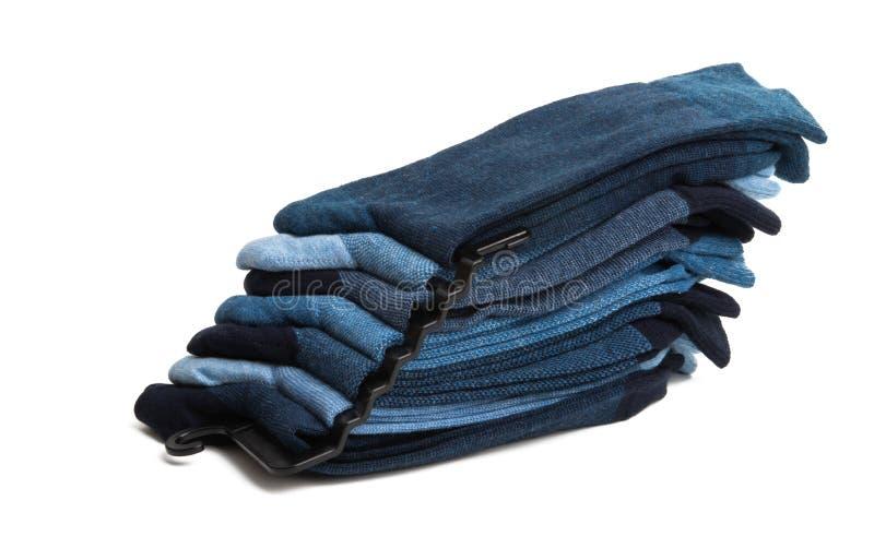 Bunt av mäns sockor arkivbild