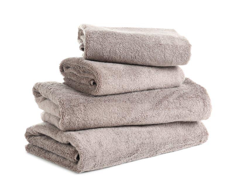 Bunt av nya handdukar arkivbild