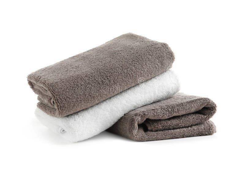 Bunt av nya handdukar royaltyfria bilder