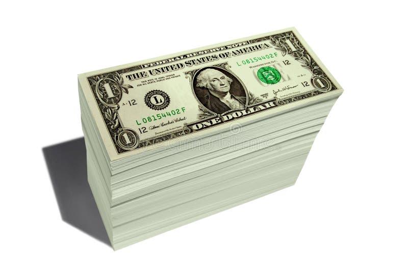 Bunt av pengar arkivfoton