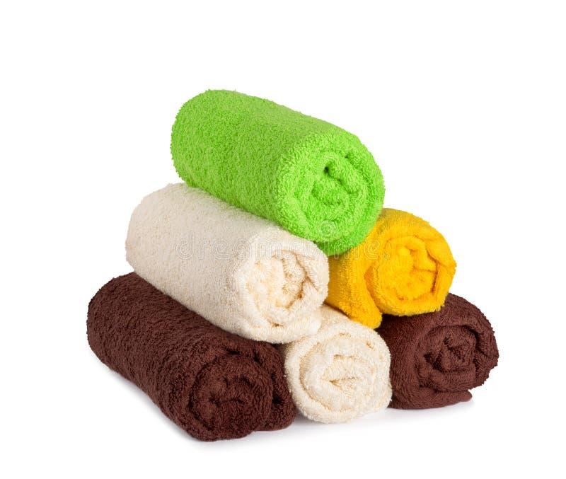 Bunt av rena nya handdukar royaltyfria foton
