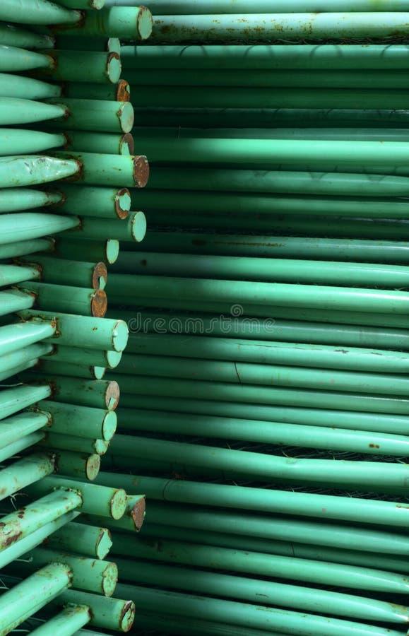 Bunt av stålrør royaltyfri foto