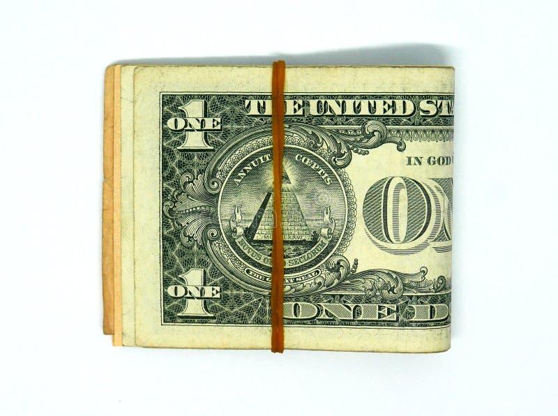 Bunt av USA sedlar arkivbild