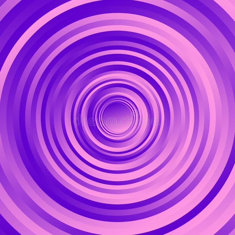 Bunt kreisen Sie spiralförmig Muster ein Drehende Kreise mit Steigung stock abbildung