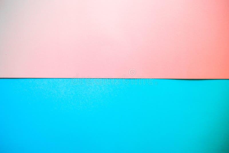 Bunt vom Hintergrund des rosa und blauen Papiers lizenzfreie stockfotos
