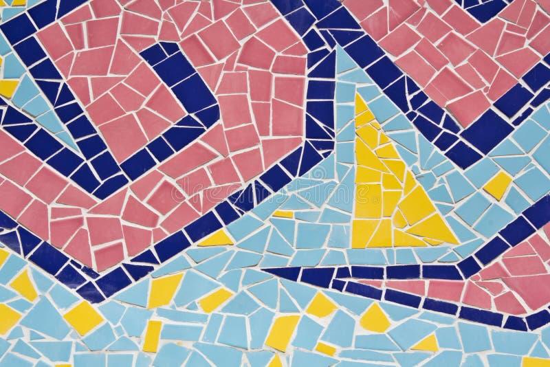 Bunt von den Mosaikfliesen stockbild
