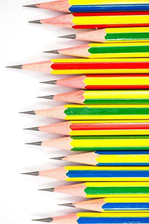 Download Bunt Von Den Schwarzen Bleistiften Stockfoto - Bild von blatt, überprüft: 27728330