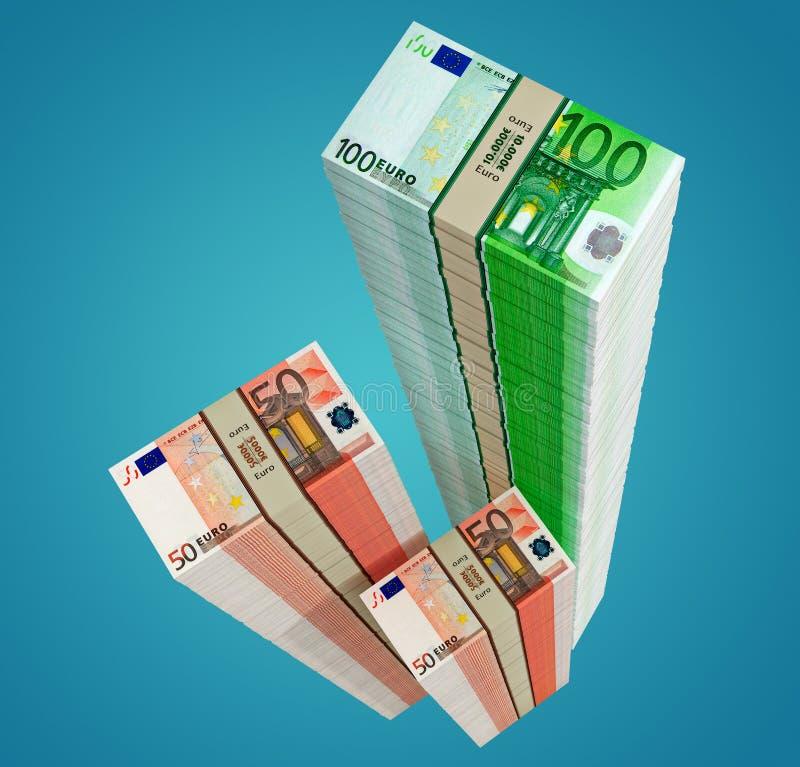 Buntar av eurosedlar royaltyfri fotografi
