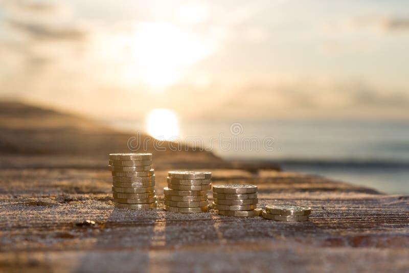 Buntar för pundmynt royaltyfri bild